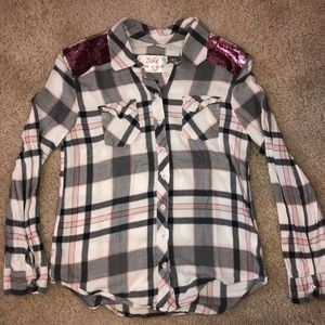 Justice Flannel with Sequins